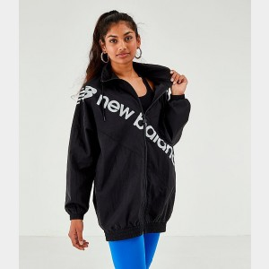 Women's New Balance Optiks Windbreaker Jacket Black Sales