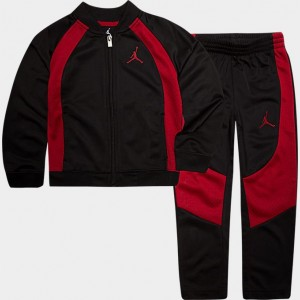 Boys' Little Kids' Air Jordan Retro 1 Tricot Track Jacket and Pants Set Black/Gym Red Sales