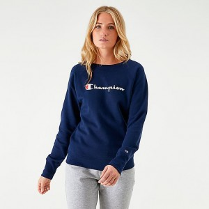 Women's Champion Powerblend Script Logo Crew Sweatshirt Sales