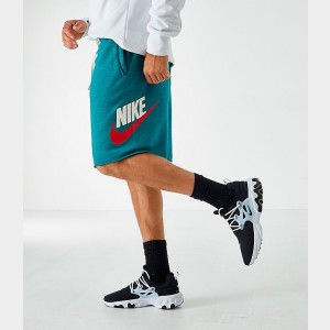 Men's Nike Sportswear Alumni Shorts Teal/White Sales