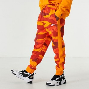 Men's Nike Sportswear Club Fleece Camo Jogger Pants Kumquat Sales