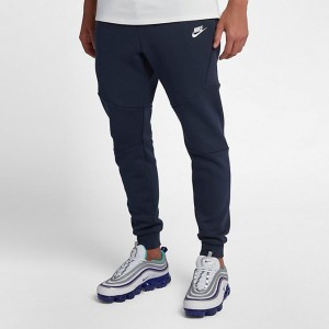 Men's Nike Tech Fleece Jogger Pants Obsidian/White/White Sales