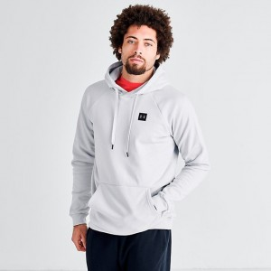 Men's Under Armour Rival Fleece Pullover Hoodie Halo Grey/Black Sales