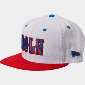 New Era New Orleans Pelicans NBA Split Color 9FIFTY Snapback Hat White/Red/Blue Sales