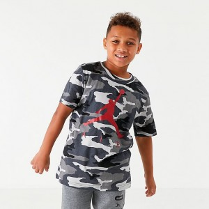Boys' Jordan Jumpman Air Camo Graphic T-Shirt Black/Camo Sales