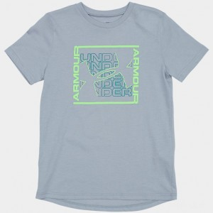 Boys' Under Armour Colorshift Box Logo T-Shirt Mod Grey Sales