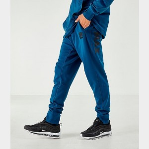 Men's Nike Air Max French Terry Jogger Pants Blue Sales