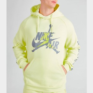 Men's Jordan Mashup Jumpman Classics Fleece Hoodie Luminous Green Sales