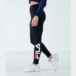 Women's Fila Avril Logo Leggings Black/White/Chinese Red Sales