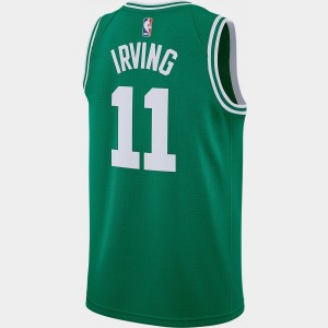 Men's Nike Boston Celtics NBA Kyrie Irving Icon Edition Connected Jersey Clover Sales