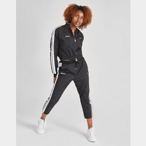 Women's Ellesse Phantom Woven Crop Track Pants Black Sales