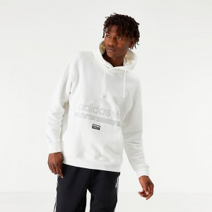 Men's adidas Originals R.Y.V Hoodie White Sales