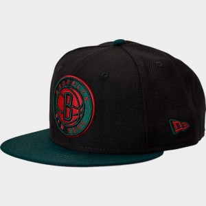 New Era Brooklyn Nets NBA Team 9FIFTY Snapback Hat Black/Green/Red Sales