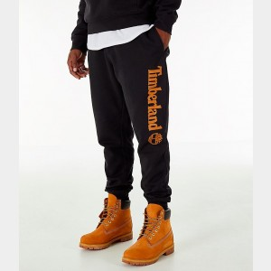 Men's Timberland Logo Jogger Pants Black Sales