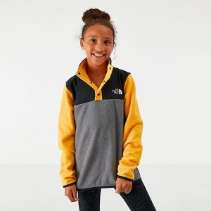 Girls' The North Face Glacier Half-Snap Sweatshirt Yellow Sales