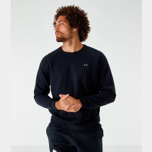 Men's Under Armour Rival Fleece Crewneck Sweatshirt Black Sales