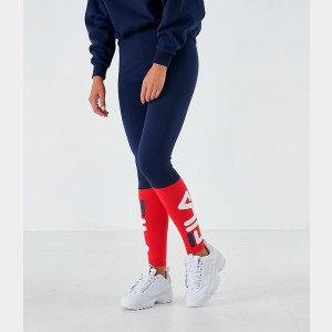 Women's Fila Henriette Leggings Navy/Red Sales