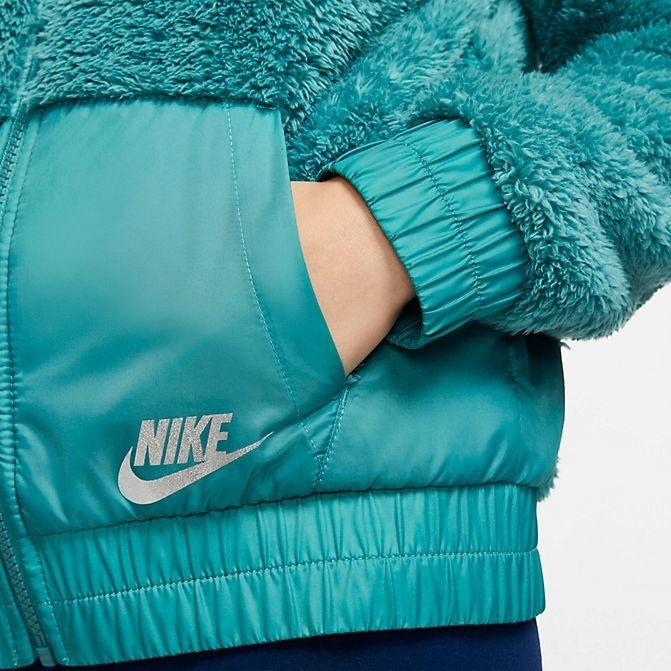 Girls' Nike Sportswear Sherpa Full-Zip Jacket Mineral Teal Sales