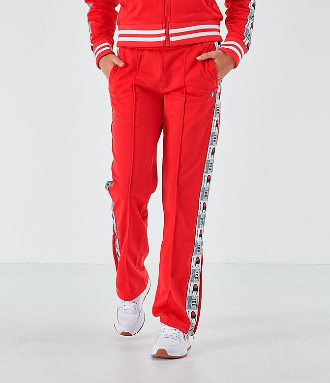 Women's Champion Track Pants Scarlet Sales