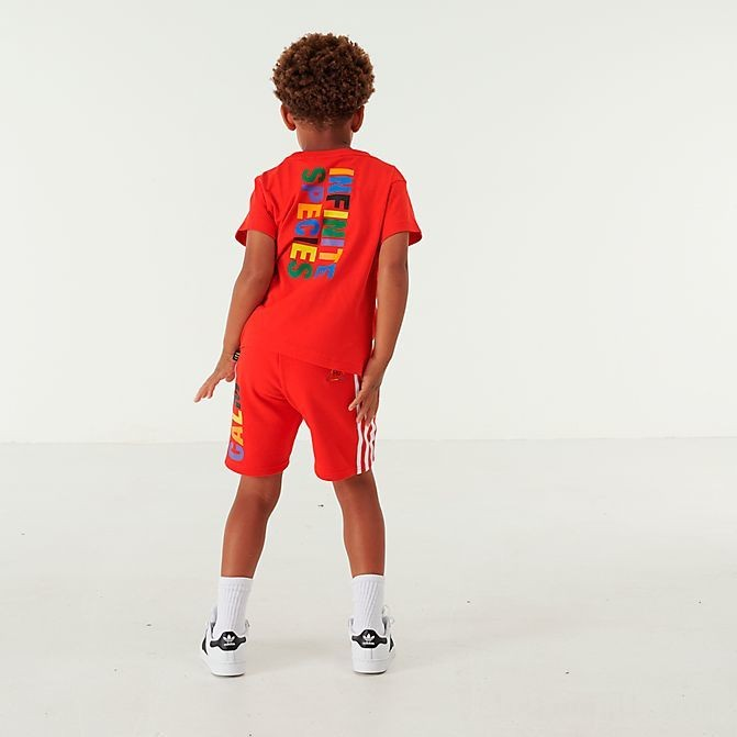 Black Friday 2021 Toddler and Little Kids' adidas Originals x Pharrell Williams TBIITD T-Shirt and Shorts Set Red Sales