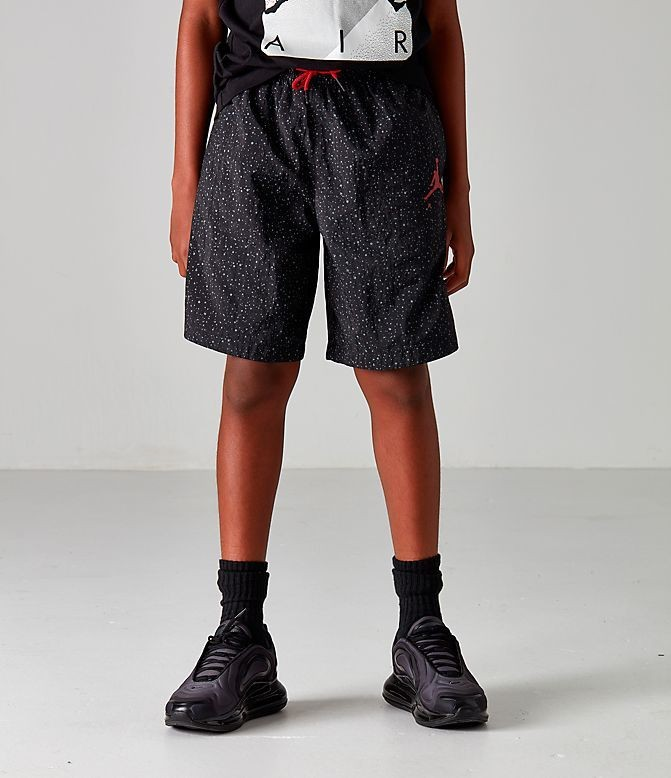 Boys' Jordan Poolside Swim Shorts Black/Red Sales