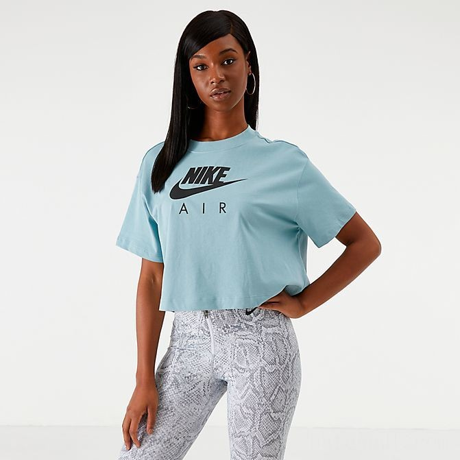 Women's Nike Air Cropped T-Shirt Ocean Cube Sales