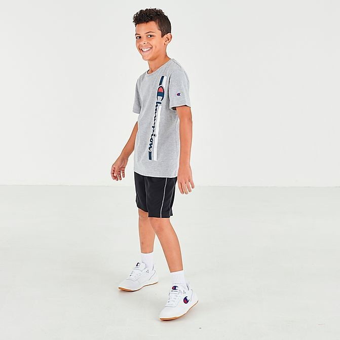 Boys' Champion Vertical Script T-Shirt Oxford Grey Sales