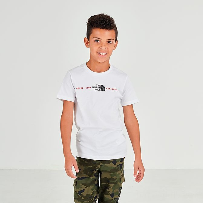 Black Friday 2021 Boys' The North Face Never Stop Exploring T-Shirt White Sales