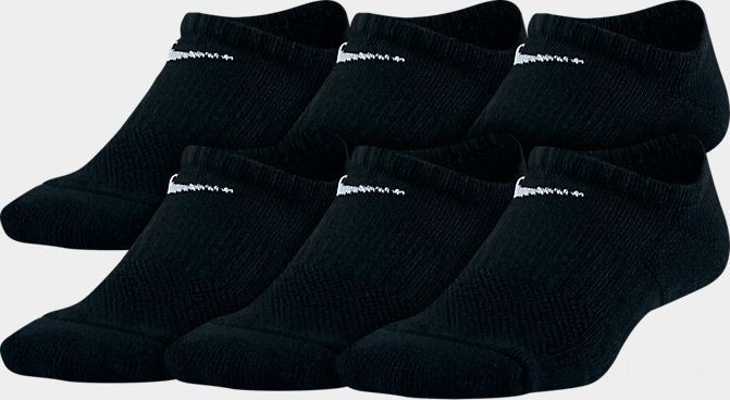 Kids' Nike 6-Pack No-Show Socks Black Sales