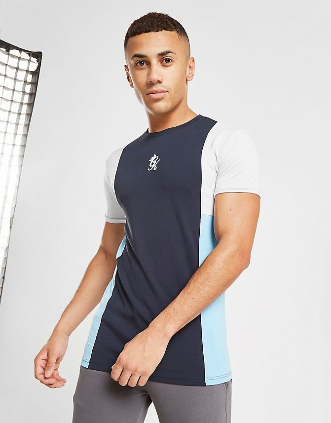 Men's Gym King Front Panel T-Shirt Navy Sales