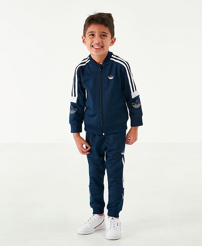Boys' Toddler and Little Kids' adidas Originals SPRT BB Track Suit Collegiate Navy/White Sales