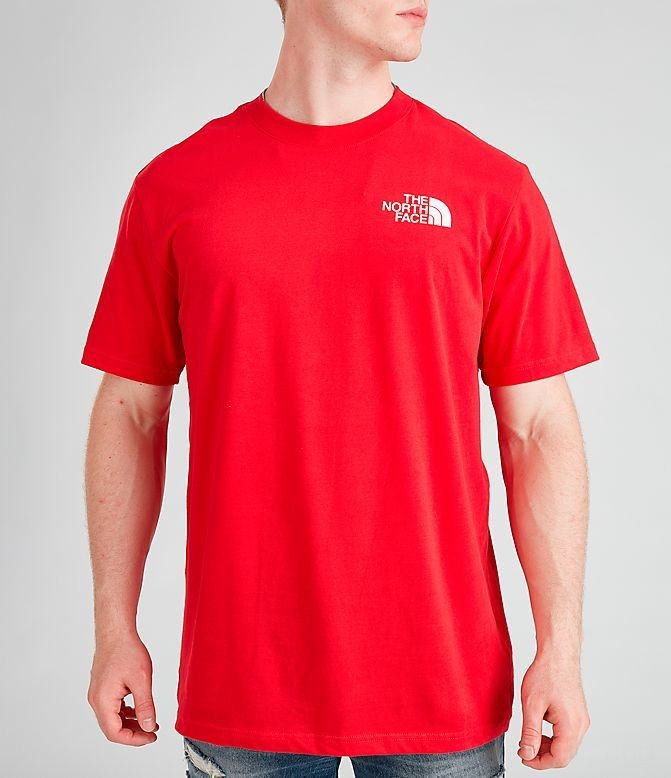 Men's The North Face Box T-Shirt Red/Black Sales