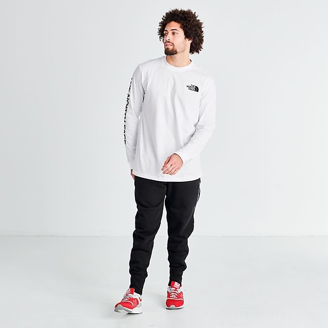 Men's The North Face Brand Proud Long-Sleeve T-Shirt White/Black Sales