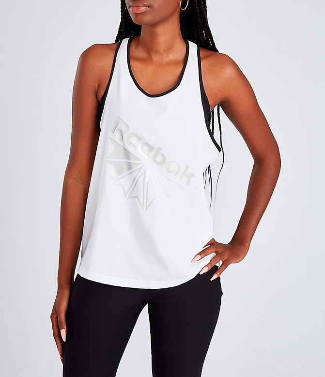 Women's Reebok Classics Starcrest Graphic Tank White/Black Sales