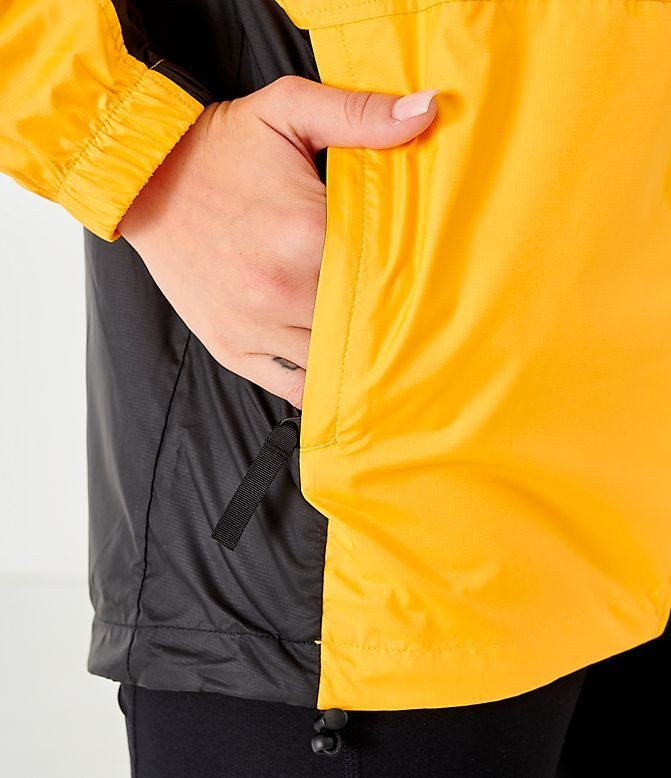 Women's The North Face Wind Jacket Yellow/Black Sales