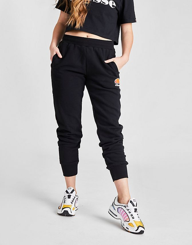 Women's Ellesse Queenstown Fleece Jogger Pants Black Sales