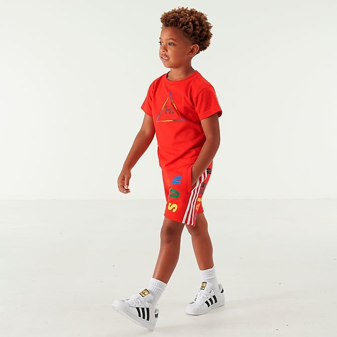 Toddler and Little Kids' adidas Originals x Pharrell Williams TBIITD T-Shirt and Shorts Set Red Sales