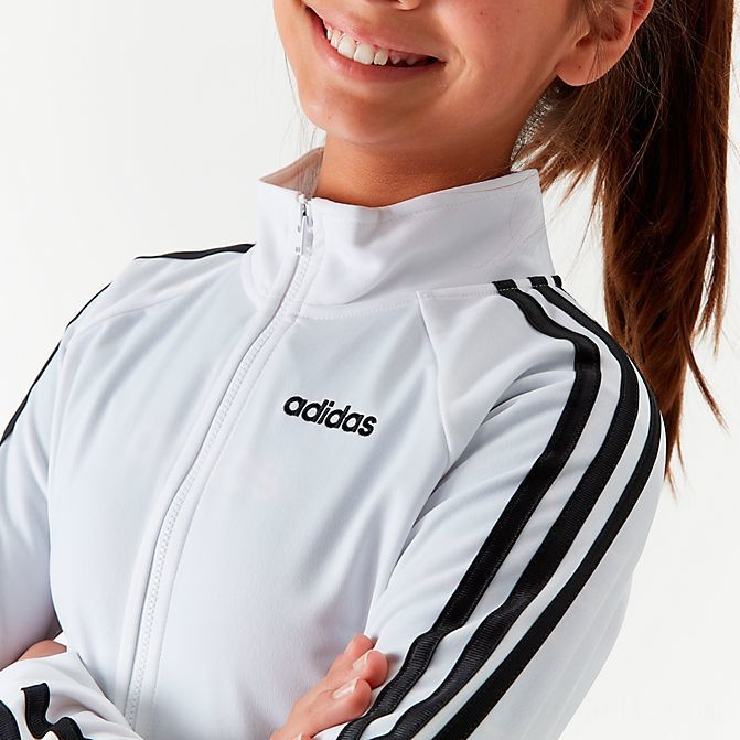 Girls' adidas Originals Tricot Track Jacket White/Black Sales
