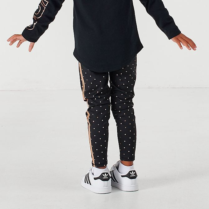 Girls' Toddler and Little Kids' adidas Dot Print Tights Black/Gold Sales
