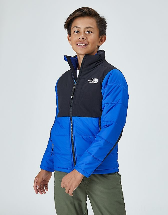 Kids' The North Face Balanced Rock Insulated Jacket Blue/Black Sales