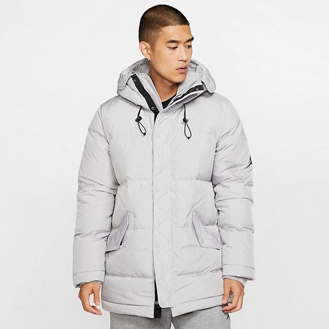 Men's Jordan Wings Down Parka Atmosphere Grey/Atmosphere Grey/Black Sales