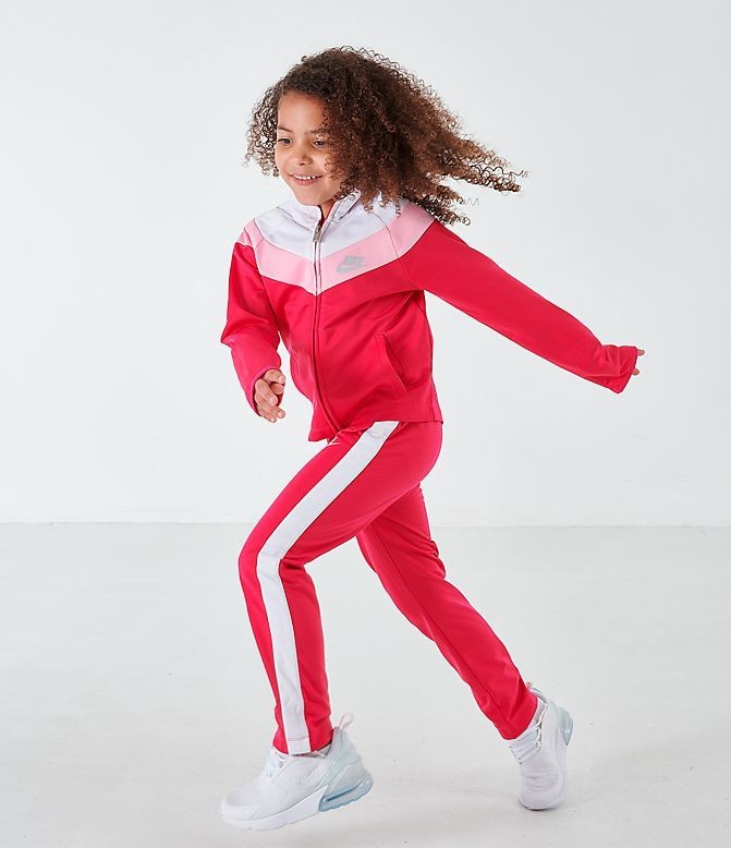 Girls' Little Kids' Nike Tricot Track Jacket and Pants Set Rush Pink Sales