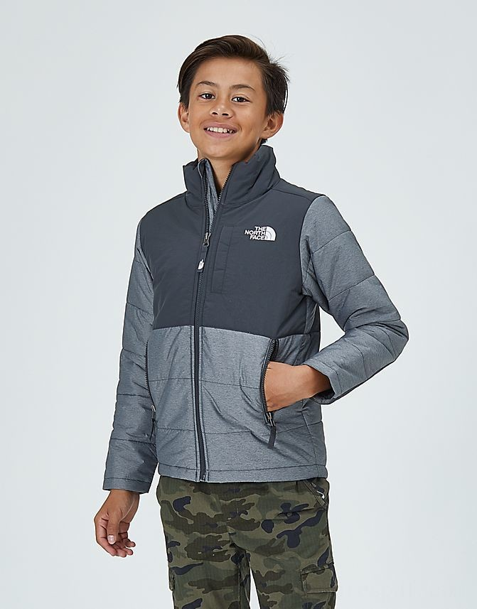 Kids' The North Face Balanced Rock Insulated Jacket Light Grey/Dark Grey Sales