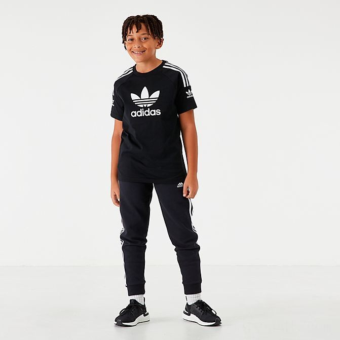 Kids' adidas Lock Up T-Shirt Black/White Sales