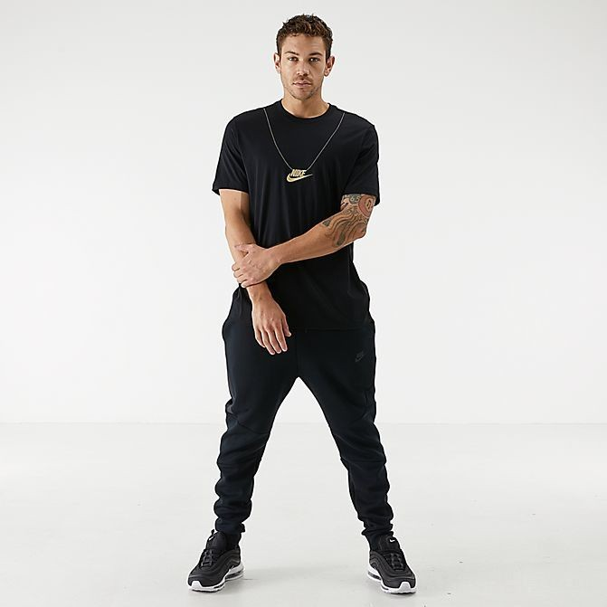 Men's Nike Sportswear Metallic Chain T-Shirt Black Sales