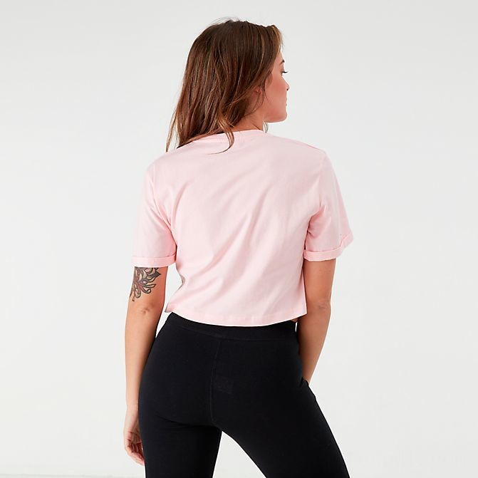 Women's Ellesse Alberta Cropped T-Shirt Light Pink Sales