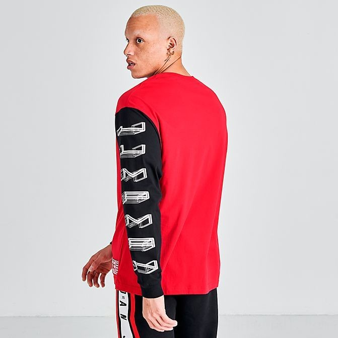 Men's Jordan Legacy AJ11 Long-Sleeve T-Shirt Gym Red/Black Sales