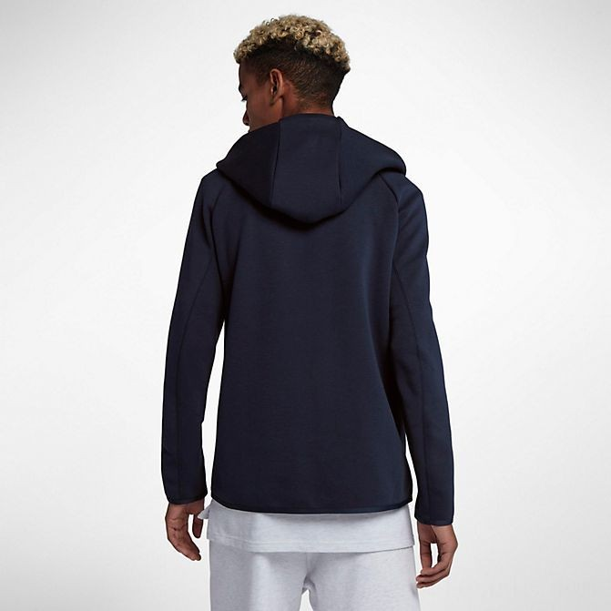Men's Nike Sportswear Tech Fleece Full-Zip Hoodie Obsidian/White Sales