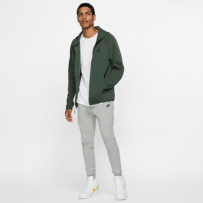 Men's Nike Sportswear Tech Fleece Full-Zip Hoodie Galactic Jade/Black Sales
