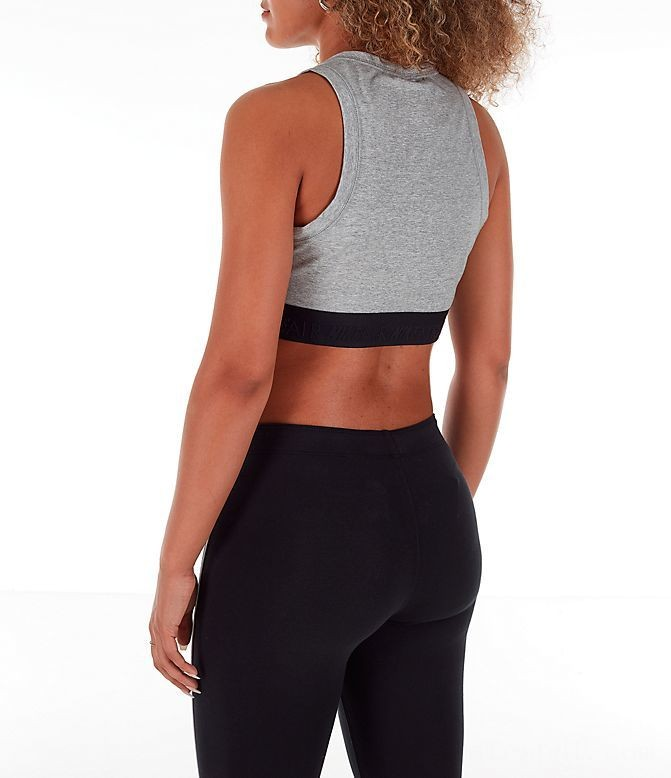 Women's Nike Air Half-Zip Crop Top Dark Grey Heather/White Sales